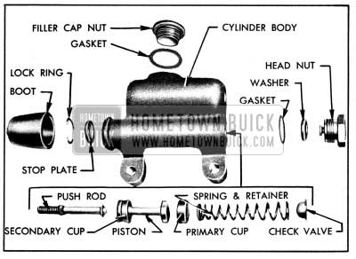 1950 Buick Master Cylinder-Disassembled