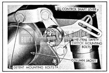1950 Buick Neutral Safety Switch Mounting