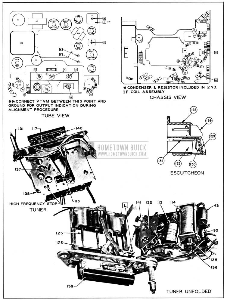 1950 Buick Parts Layout-Selectronic Radio