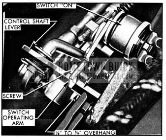 1950 Buick Position of Switch Operating Arm In Reverse