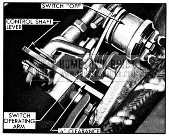 1950 Buick Position of Switch Operating Arm in Second Speed