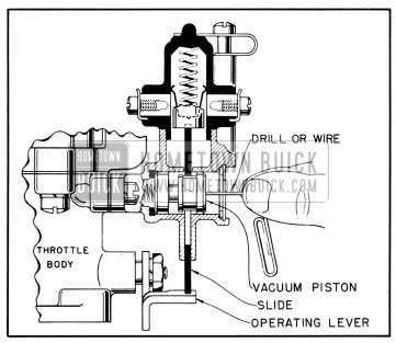 1950 Buick Pushing Vacuum Piston to Inner Position