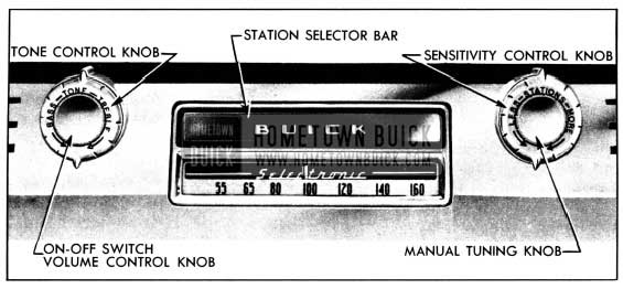 1950 Buick Receiver Controls-Selectronic Radio