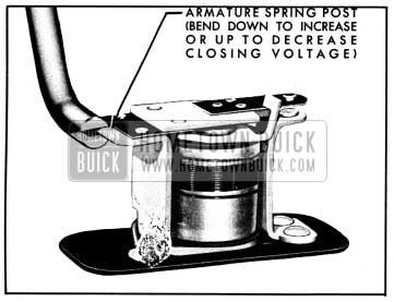 1950 Buick Relay Closing Voltage Adjustment
