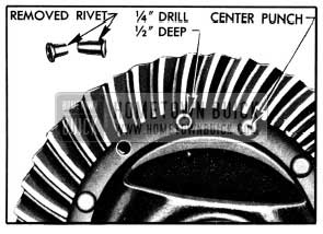 1950 Buick Removal of Ring Gear Rivets