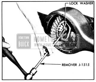 1950 Buick Removing Axle Shaft Lock Washer