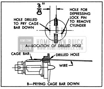 1950 Buick Removing Lock Cylinder having a Loose Cage Bar