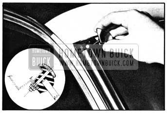 1950 Buick Reveal Molding Corner Escutcheon