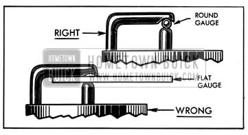 1950 Buick Right and Wrong Spark Plug Gauges