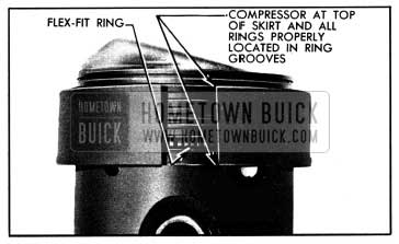 1950 Buick Rings Held in Place by Compressor