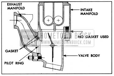 1950 Buick Sectional View of Joints Between Valve Body and Manifolds