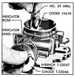 1950 Buick Setting Choke Valve and Vacuum Piston