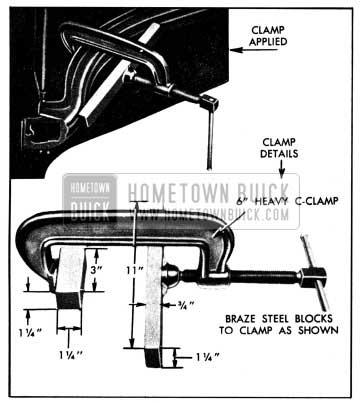 1950 Buick Straightening Hood Panel Reinforcement to Spread Hood