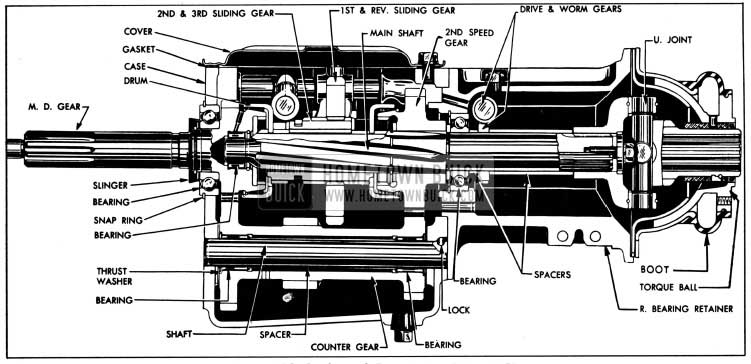 1950 Buick Synchromesh Transmission-Series 40-50