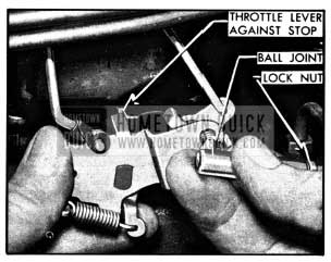 1950 Buick Throttle Rod Adjustment-Synchromesh