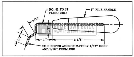 1950 Buick Tool for Removing Hydraulic Valve Lifter
