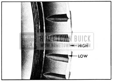 1950 Buick Tread Block Heel and Toe Wear