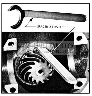 1950 Buick Use of Pinion Bearing Spacer J 1192-B