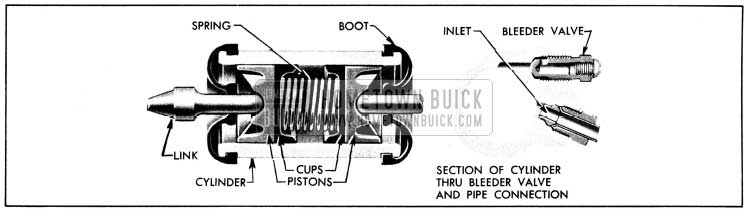 1950 Buick Wheel Cylinder-Sectional View