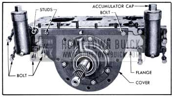 1951 Buick Accumulator Body and Reaction Shaft Flange Attaching Screws