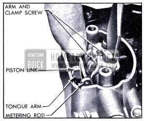 1951 Buick Adjusting Metering Rods
