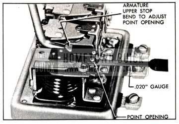 1951 Buick Adjustment of Cutout Relay Contact Point Opening