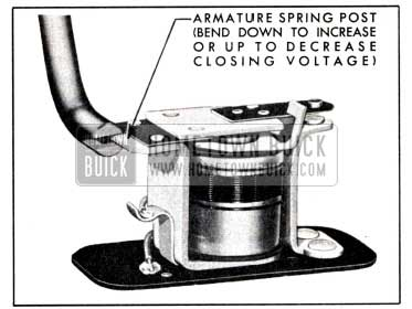 1951 Buick Adjustment of Horn Relay Closing Voltage