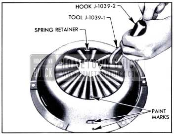 1951 Buick Attaching Spring Retainer to Cover