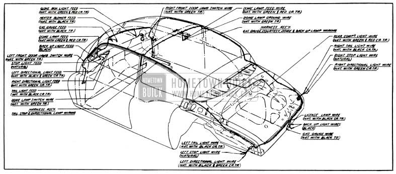 1951 Buick Body Wiring Circuit Diagram-Model 51-Styles 4569