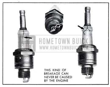 1951 Buick Broken Spark Plug Insulators