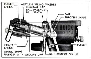 1951 Buick Carter Accelerator Vacuum Switch Correctly Assembled