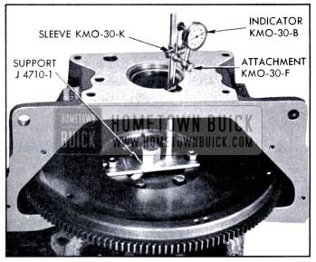 1951 Buick Checking Alignment of Flywheel Housing