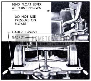 1951 Buick Checking and Adjusting Float Height