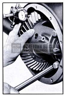 1951 Buick Checking Back Lash with Dial Indicator