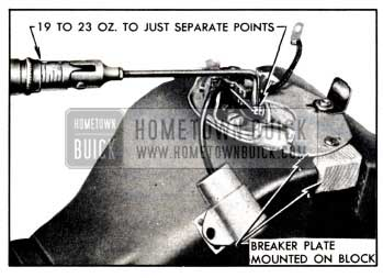 1951 Buick Checking Breaker Arm Spring Tension