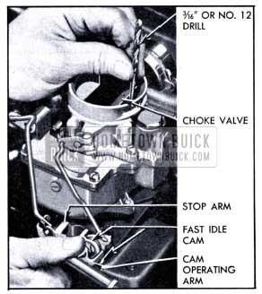 1951 Buick Checking Carter Choke Unloader Adjustment