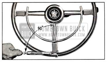1951 Buick Checking Thrust Bearing or Lash Adjustment with Scale