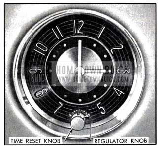 1951 Buick Clock Time Rest and Regulator Knobs
