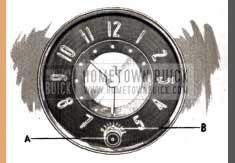 1951 Buick Clock