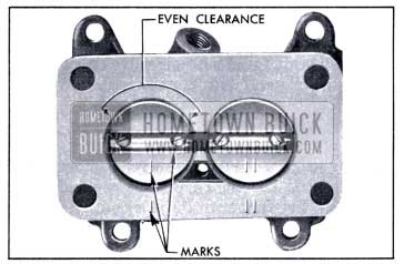 1951 Buick Correct Position of Throttle Valves