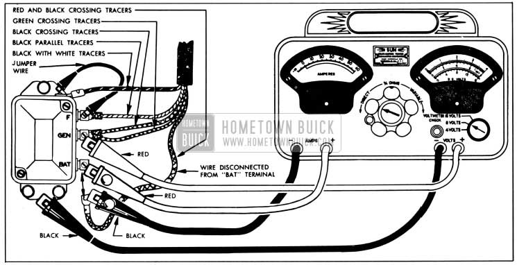 1951 Buick Cutout Relay Test Connections-Sun Volts