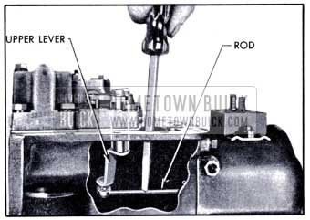 1951 Buick Disconnecting Valve Operating Rod from Upper Lever