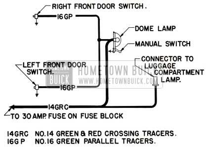 1951 Buick Dome Lamp Wiring Circuit Diagram-Series 40