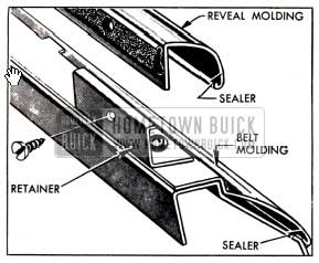 1951 Buick Door Lower Reveal and Belt Molding Attachments
