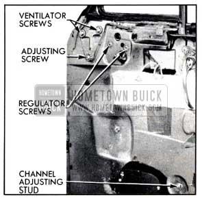 1951 Buick Door Ventilator Adjustments