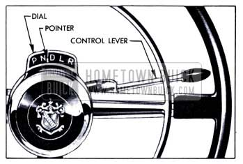 1951 Buick Dynaflow Dial, Pointer, and Lever