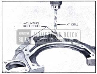 1951 Buick Enlarging Bolt Holes in Housing View
