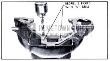 1951 Buick Enlarging Bolt Holes in Housing