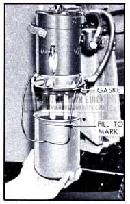 1951 Buick Filling H-L Power Unit Reservoir