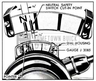 1951 Buick Gauge J 3085 Set for Timing the Neutral Safety Switch